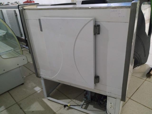 Balcão Polofrio para tortas, 1,20m, refrigerado 110v usado Frete Grátis - Foto 4