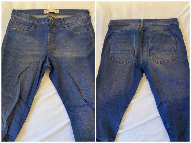 Calça Skinny azul 42