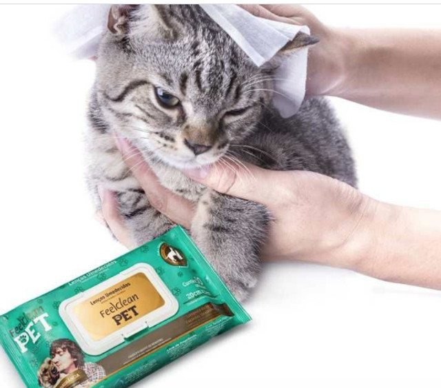 Lenco Pet FeelClean Pet c/ tampa flip top c/ 50 un