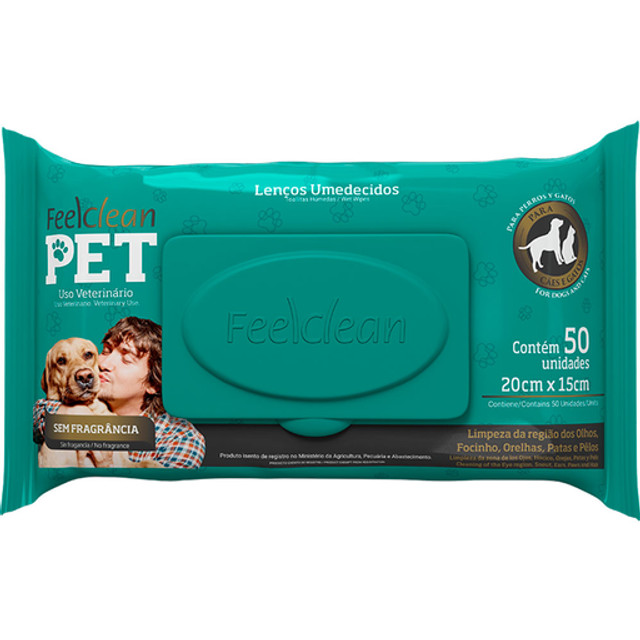 Lenço umidecico cão e gato - Foto 2
