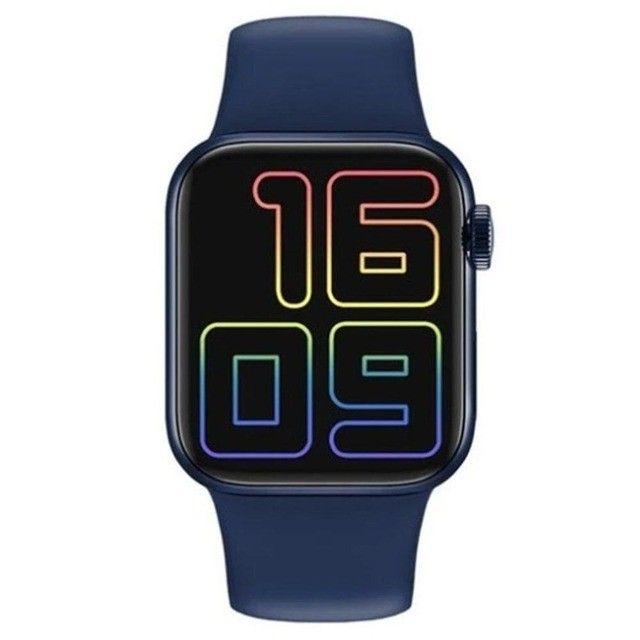 Smartwatch Iwo Hw12 Azul Original Foto Tela E Faz Ligações - Foto 2