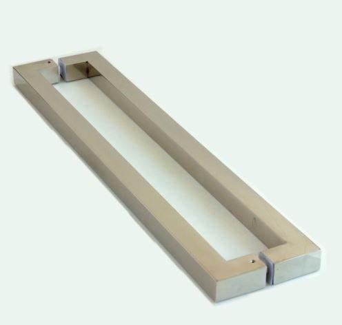 Puxador de Porta Inox 304 Polido 120cm 30x30x1200mm