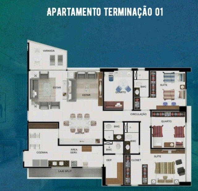 Apartamento 4 quartos 02 suítes em boa viagem - alto padrão - fase final de construção - Foto 3