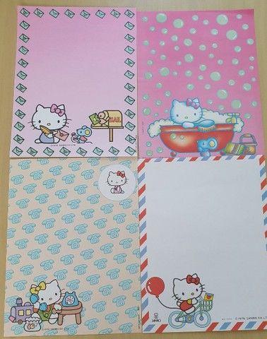 Coleção de Papel de Carta Hello Kitty 7 unidades - Foto 3