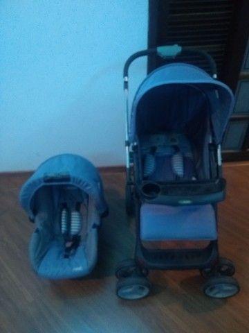 Carrinho bebê conforto Kiddo semi novo - Foto 3