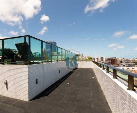 Apartamento com 2 dormitórios à venda, 59 m² por R$ 420.000 - Cabo Branco - João Pessoa/PB - Foto 16