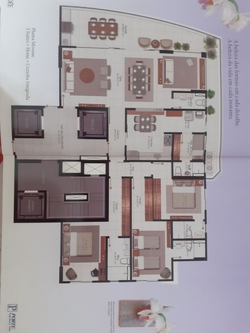 173m3 - 03 Suites + Gabinete - 03 vagas ( Depósito) - Foto 17