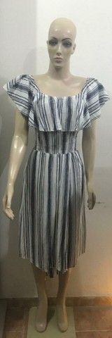 Vestido listrado Preto e branco - Foto 2
