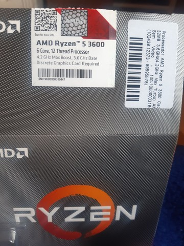 Processador AMD Ryzen 5 3600 Cache 32MB 3.6GHz (4.2GHz Max Turbo) - Foto 2