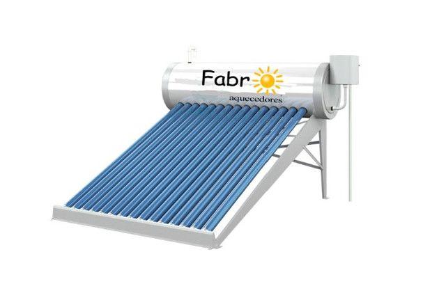 Aquecedor solar a vacuo 20 Tubos com apoio elétrico