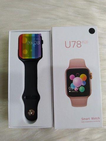 Smartwatch U78 Plus Tela infinita, Coloca Foto e Botão Rotativo - Foto 3