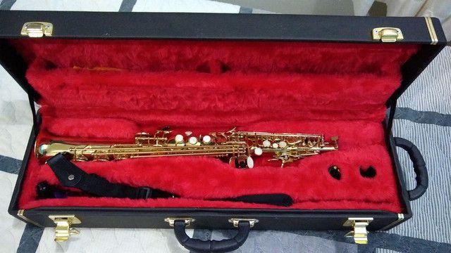 Saxofone soprano (reto) vendo ou troco por trompete - Foto 2