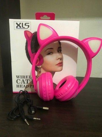 Headphone Orelha de Gato Led Bluetooth - Foto 4