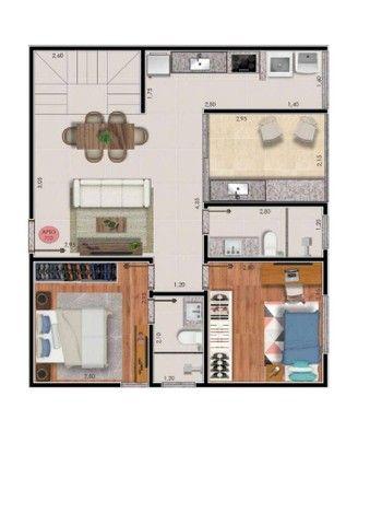 Apartamento com 2 dormitórios à venda, 74 m² por R$ 325.000,00 - Bairu - Juiz de Fora/MG - Foto 12