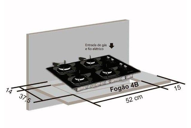 Balcão para cooktop + cooktop 4 bocas  - Foto 4