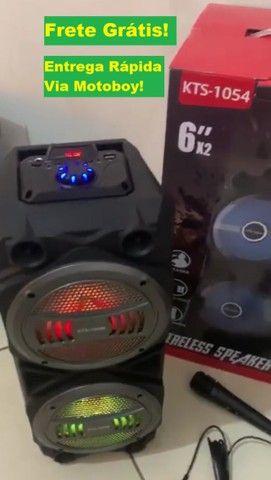 Caixa Super Potente de 1000w (KTS 1054 Bluetooth) - Frete Grátis!