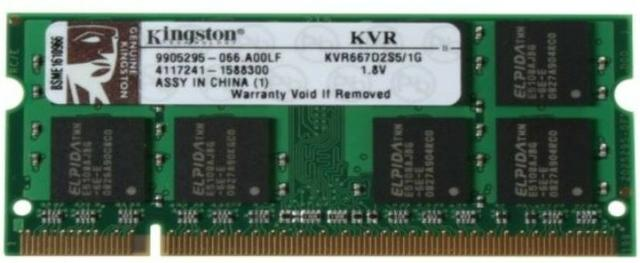 Memória 1gb Ddr2 167 Para Notebook Kingston Kvr667d2s5/1g