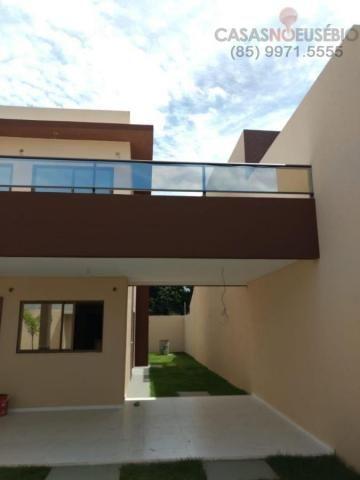 Casa duplex nova no centro do eusebio, 162 metros, 3 suítes, apenas 350 mil pra fechar - Foto 3
