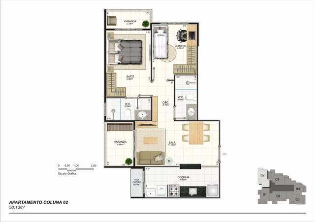 Apartamento 02 Quartos, Bairro Riviera, Lançamento na Planta - Foto 2
