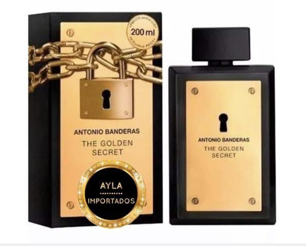 3 x R$: 49,66 Perfume 200ml Antonio Banderas The Golden Secret