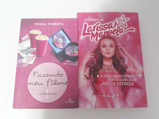 221c2b9bcef3f Livros  O diário de Larissa Manoela e Fazendo meu filme volume 1l ...