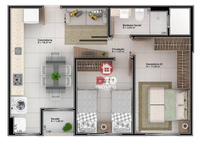 Apartamento à venda - Boa Vista - Cocal do Sul/SC - Foto 6