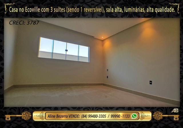 Financia, casa com 3 suítes no Ecoville, sombra, alta qualidade, venha conhecer - Foto 13