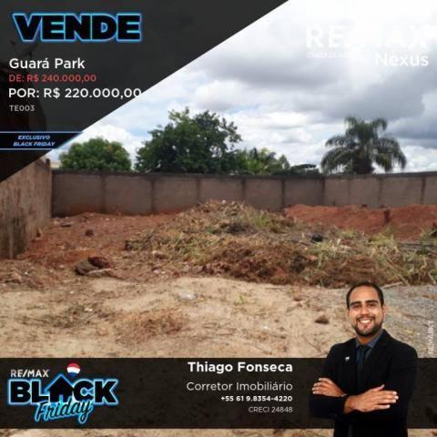 Terreno a venda no guará park com 400 m²