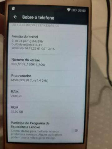 "Smartphone Lenovo Vibe K6 Dual Chip Android Tela 5"" 32GB 2G Câmera 13MP - Foto 2"