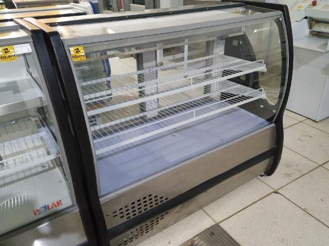 Balcão Polar Torta 1,25m, Boreal Preto 110v usado Frete Grátis