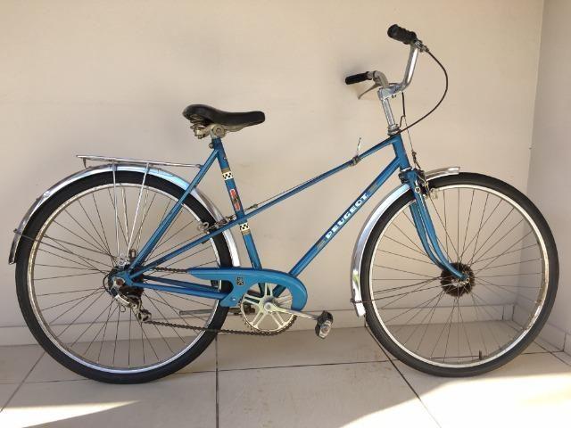 Bicicleta Peugeot - Aro 26 - Azul - Ótimo Estado - Antiga - Foto 3