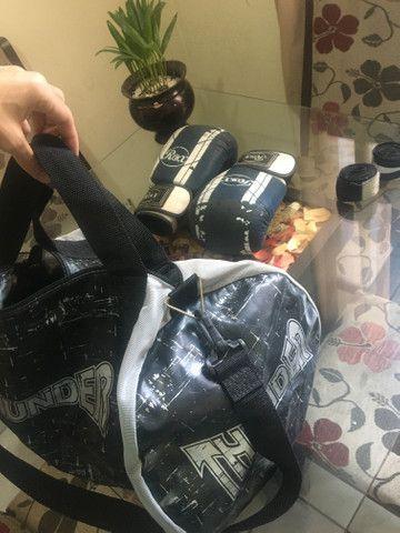 Luvas de Boxe, Bolsa para itens e atadura - Foto 6