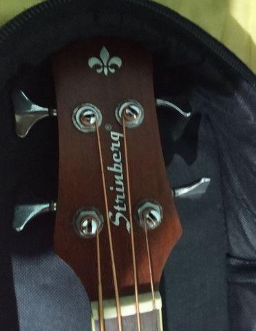 Baixolão SB 24 com 4 cordas com case acolchoado - Foto 3