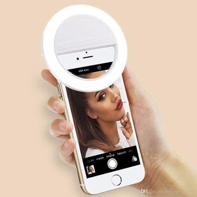 Luz de Selfie Ring Light Anel Led Flash Celular Tablet Smartphone Recarregável