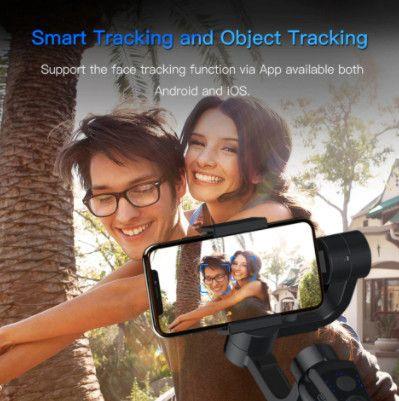 Gimbal estabilizador bluetooth com foco Zoom para telefone - Foto 3