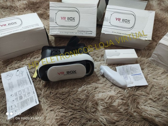 Óculos 3d Vr Box 2.0 Realidade Virtual Com Controle, pronta entrega - Foto 3