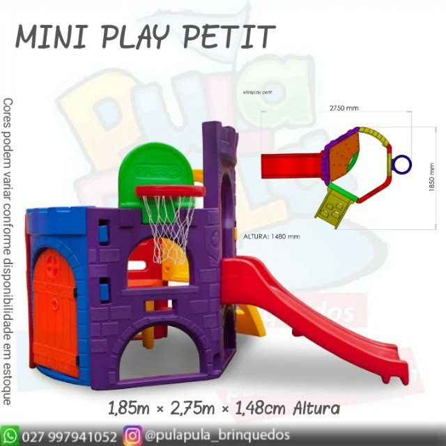 Venda Playground Petit Play com balanço colorido - Apenas por encomenda - Foto 5