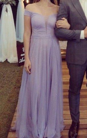 Vestido de festa - Lilás (lavanda)  - Foto 2
