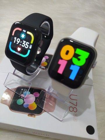 Smartwatch U78 Plus Tela infinita, Coloca Foto e Botão Rotativo - Foto 4