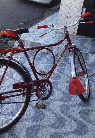 Bicicleta Barra Circular Monark Vermelha aro 26 - Foto 4