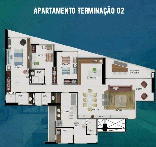 Apartamento 4 quartos 02 suítes em boa viagem - alto padrão - fase final de construção - Foto 4