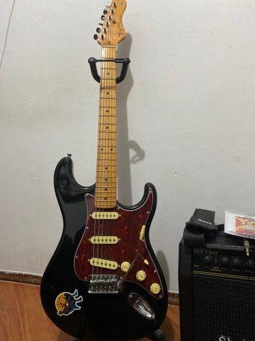 Kit Guitarra Stratotocaster Tagima Woodstock TG530 + Amplificador Sheldon - Foto 3