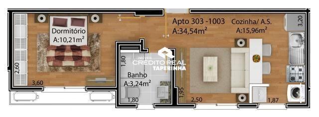 Apartamento à venda com 1 dormitórios em Nonoai, Santa maria cod:8453 - Foto 3