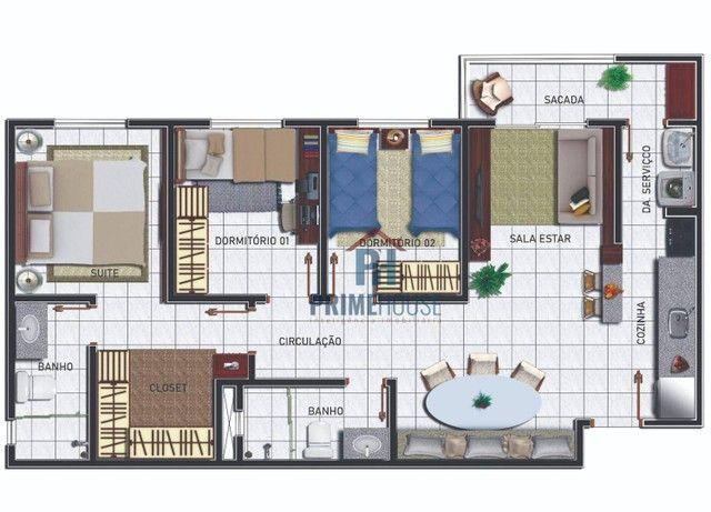 Apartamentos com 2 e 3 dormitórios à venda, 49 m² e 70 m²- Morada do Ouro - Cuiabá/MT - Foto 18