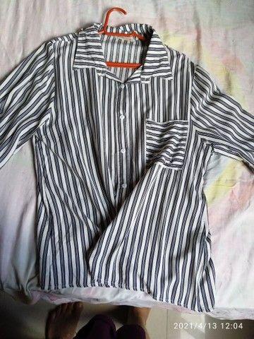 Blusa xadrez de manga comprida