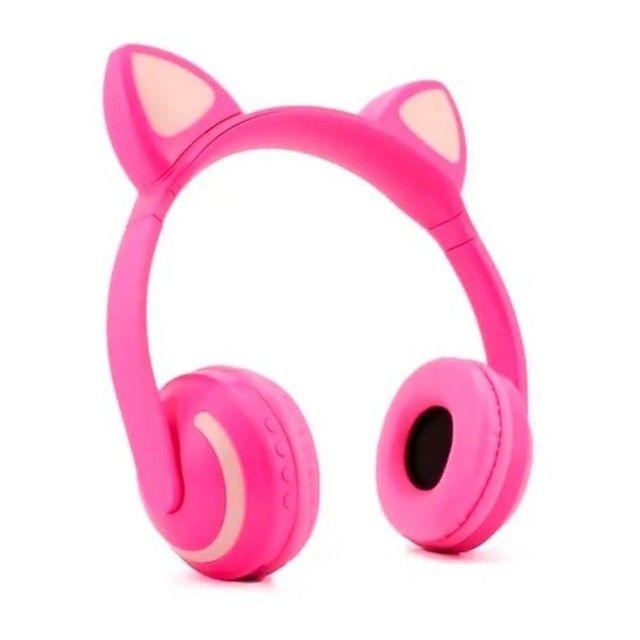 Headphone Orelha de Gato Led Bluetooth - Foto 5