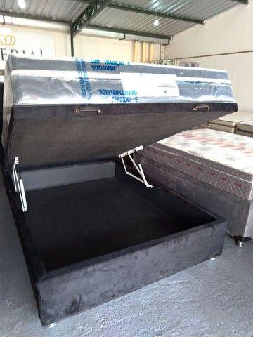 Cama baú, box baú  ,base baú   Cama box baú novos reforçado  - Foto 2