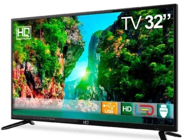 """TV LED 32"""" HQ HQTV32 Resolução HD com Conversor Digital 3 HDMI 2 USB Recepção Digital<br><br> - Foto 2"""