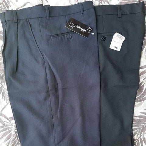 Vendo pacote fechado (30 peças) de calças sociais masculinas