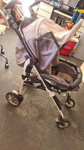 Kit carrinho de bebe + bebe conforto + Moisés marca chicco - Foto 5